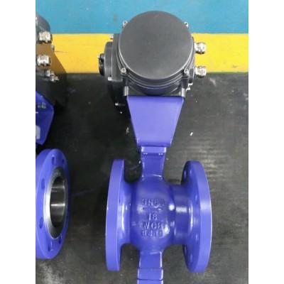 气动v型调节阀-V型气动球阀工作原理图片