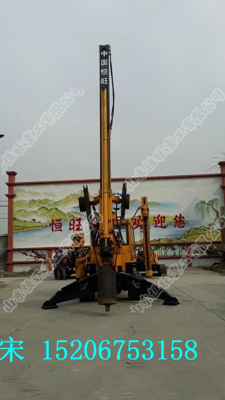 轮式旋挖打桩机  伸缩杆旋挖打桩机价格 小型旋挖钻机图片