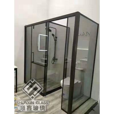 郑州玻璃隔断玻璃淋浴房厂家定制