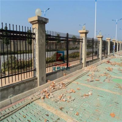 苏州龙桥围墙围栏 栅栏 护栏 镀锌钢管表面烤漆处理