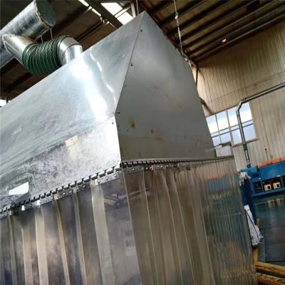 环保设备粉尘集齐罩透明软帘耐高温阻燃吸尘罩软帘图片