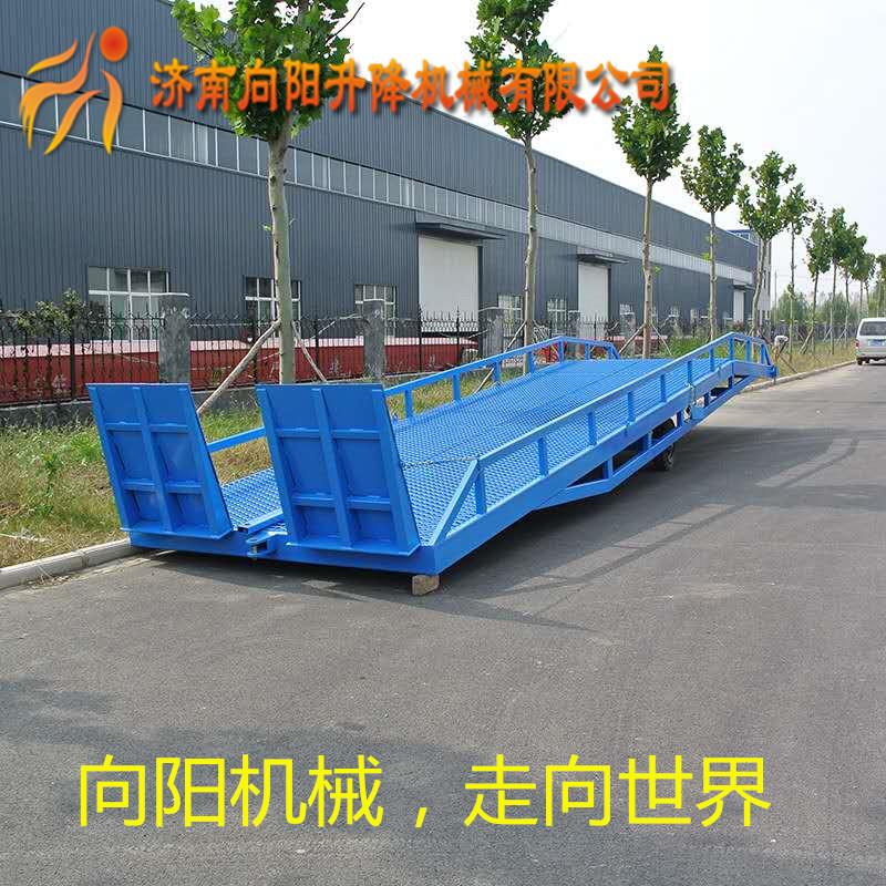 湖北移动式电动液压升降台叉车集装箱上车台6.8.10吨
