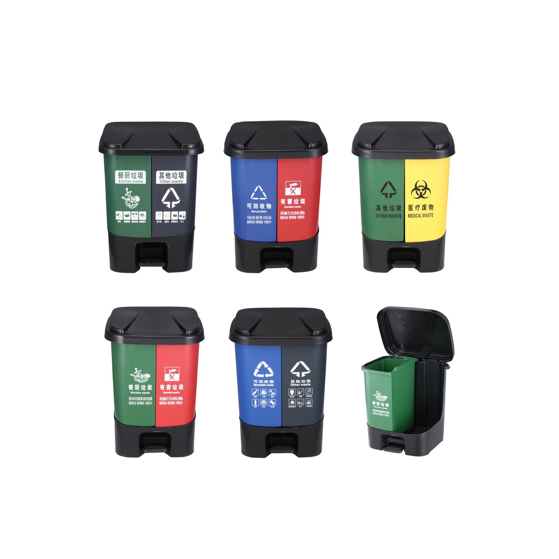 脚踏分类桶厂家直销 恒溢垃圾桶厂家定制图片