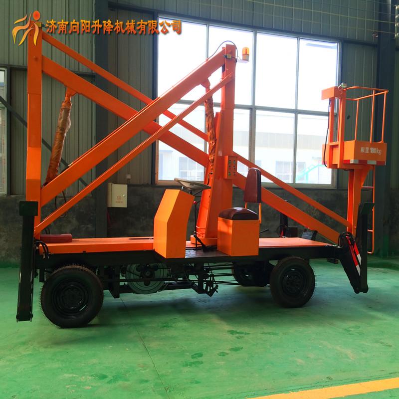 山西太原曲臂式升降机移动维修高空升降平台车生产定制