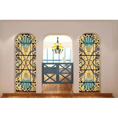 彩绘的教堂玻璃创美定制工厂图片