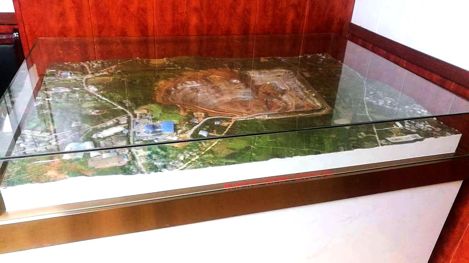 四川风谷三维真彩色实景地形沙盘制作图片