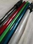 不同颜色亮光3K碳纤维管图片