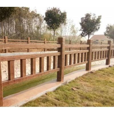 泰安水浒建材仿木护栏仿木栏杆水泥护栏景区护栏仿木花箱仿木护栏