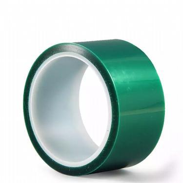 绿色PET高温胶带耐酸碱无残胶绿色硅胶高温胶带图片