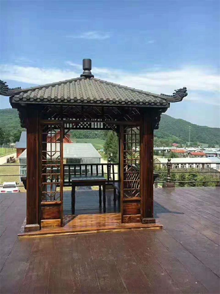 江西文青园林古建厂家直销四角凉亭图片
