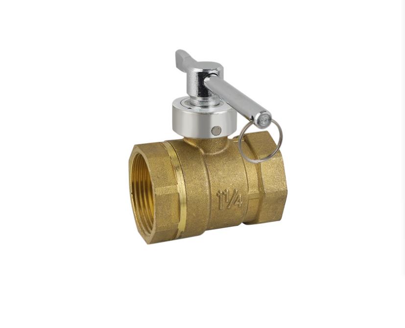 黄铜锁闭球阀批发 非标磁性一字锁闭阀