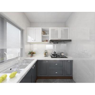 凯米特全屋全铝定制现代简约橱柜整体厨房组装经济型橱柜图片