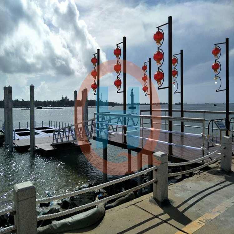 钢结构浮码头浮桥水上建筑景观交通浮桥码头游艇浮码头可加工定制图片