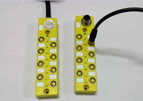 M8传感器分线盒,M8多口盒(8口座,16口座)图片