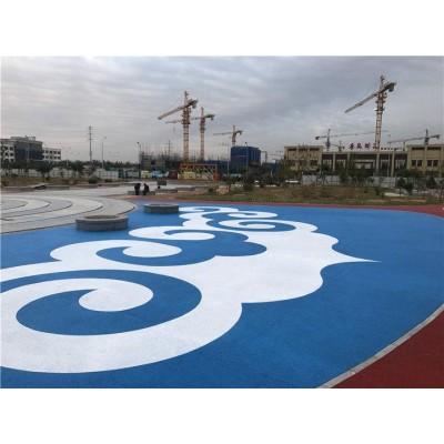 广元市彩色透水混凝土  艺术地坪 压花地坪原材料厂家