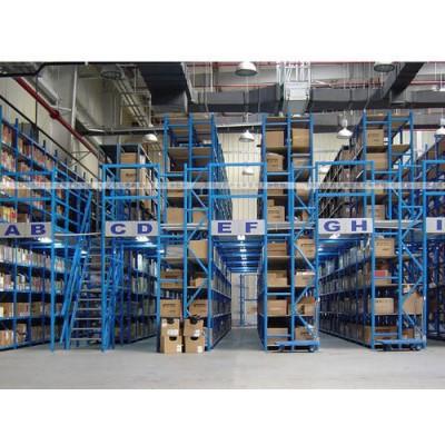 供应仓库阁楼货架,二层层板货架。