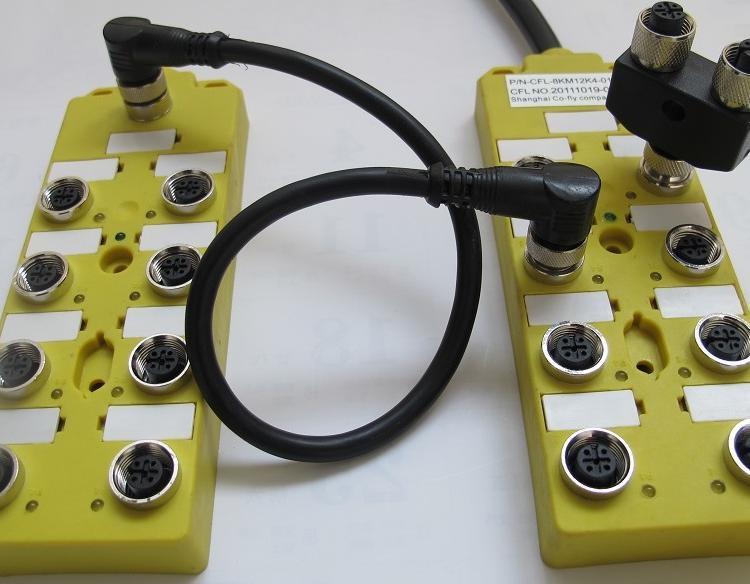 M8分体式 I/O分线盒12口带M23插座19针图片