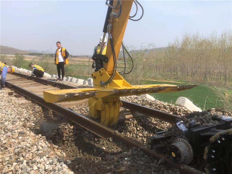 山东厂家改装挖掘机铁路换枕机 轨道枕木搬运机
