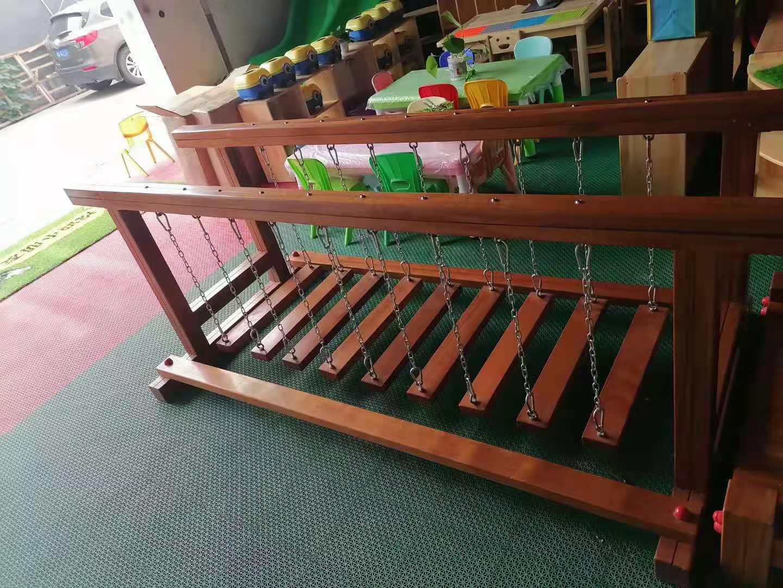 幼儿园纯实木荡桥