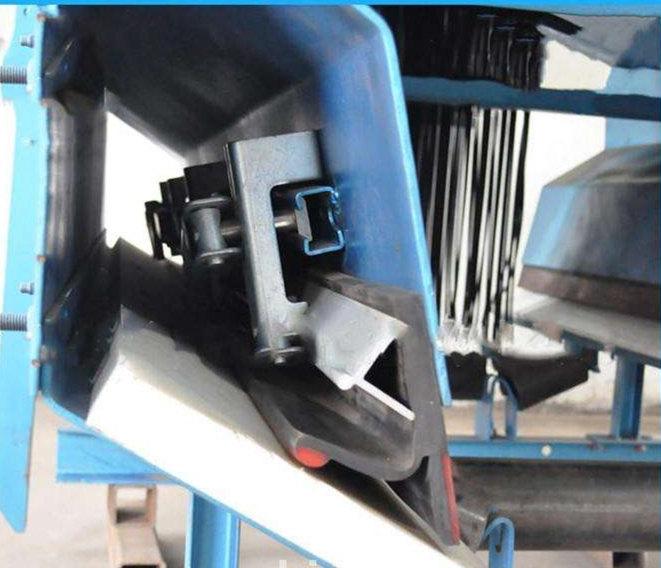 煤矿输送机挡煤皮子 导料槽Y型挡边 皮带机护皮