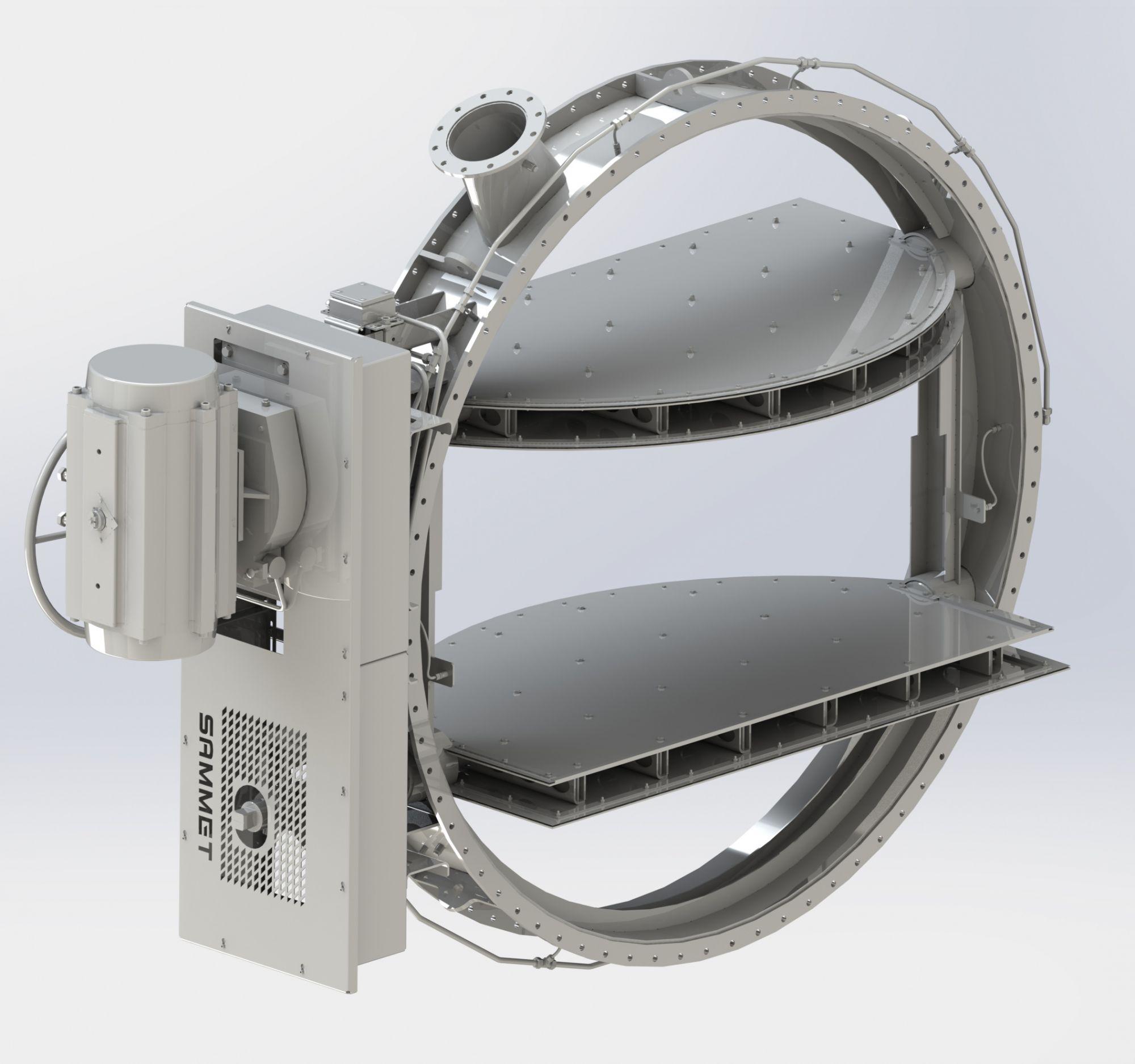 科宁船用挡板门 电动气动挡板阀
