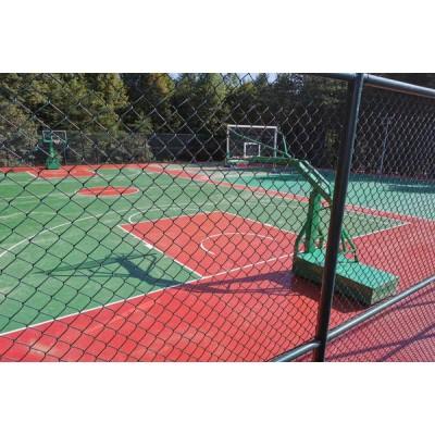 淄博球场围网体育场护栏网菱形勾花铁丝护栏厂家直销