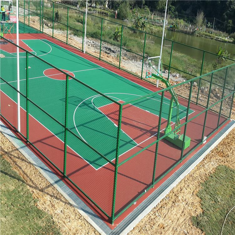 日照体育场篮球围网菱形勾花网防护栏工艺优