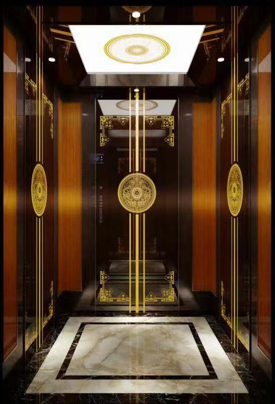 电梯轿厢内部装饰电梯装潢翻新图片