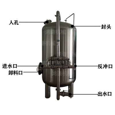 平果县鸿谦 软化树脂过滤器 石英砂过滤器 品质保证